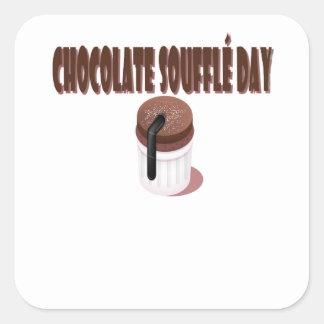Chocolate Soufflé Day - Appreciation Day Square Sticker