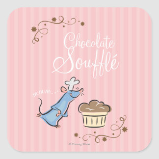 Chocolate Souffle Square Sticker