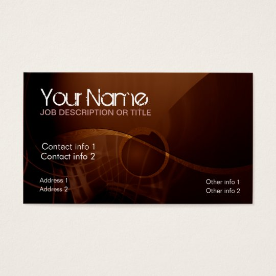 Chocolate Sounds Business Card