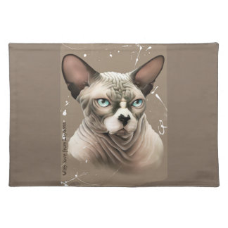 Chocolate Sphinx Cloth Placemat