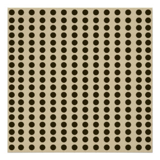 Chocolate Spice Moods Dots Poster