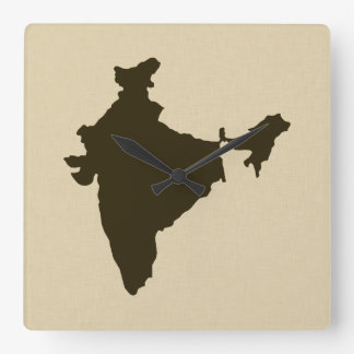 Chocolate Spice Moods India Square Wall Clock