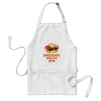 Chocolate Spins Adult Apron