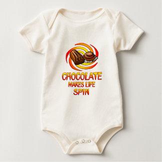 Chocolate Spins Baby Bodysuits