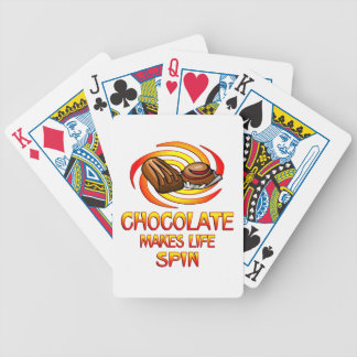 Chocolate Spins Bicycle Playing Cards