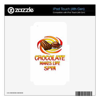 Chocolate Spins Decal For iPod Touch 4G
