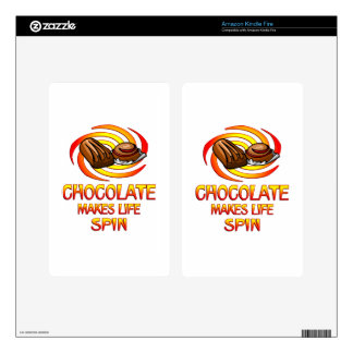 Chocolate Spins Decal For Kindle Fire