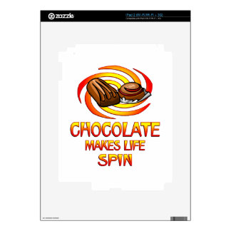 Chocolate Spins Decals For iPad 2