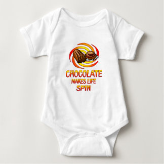 Chocolate Spins Infant Creeper