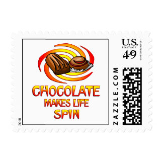 Chocolate Spins Postage Stamps