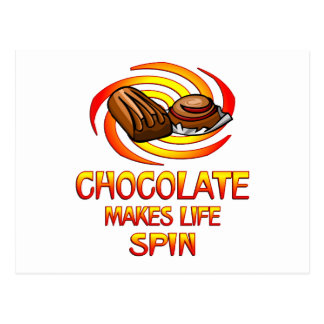 Chocolate Spins Postcard