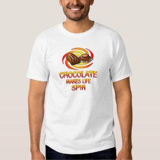 Chocolate Spins Shirts
