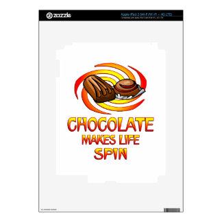 Chocolate Spins iPad 3 Skins