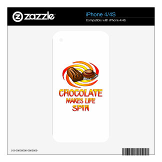 Chocolate Spins Skins For iPhone 4