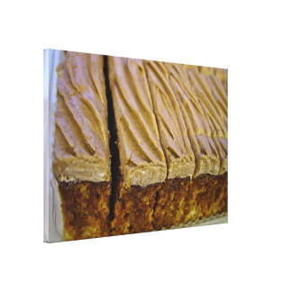 Chocolate sponge cake with chocolate buttercream canvas print