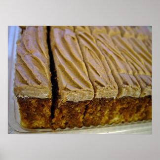 Chocolate sponge cake with chocolate buttercream poster
