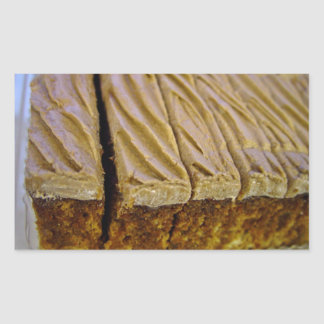 Chocolate sponge cake with chocolate buttercream sticker