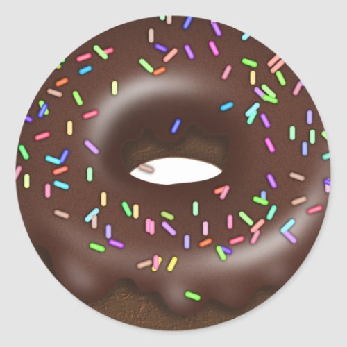 Chocolate Sprinkle donut bakery sticker