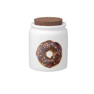 Chocolate Sprinkle Doughnut Candy Jars