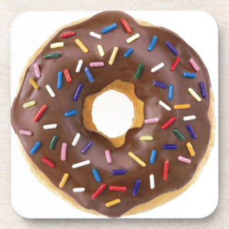 Chocolate Sprinkle Doughnut Coaster