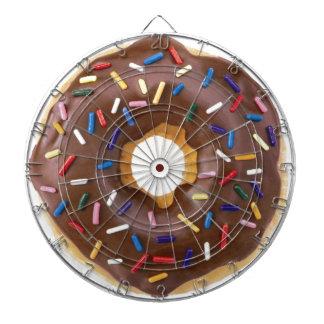 Chocolate Sprinkle Doughnut Dartboards