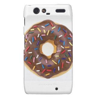 Chocolate Sprinkle Doughnut Droid RAZR Covers