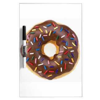 Chocolate Sprinkle Doughnut Dry Erase White Board