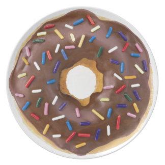 Chocolate Sprinkle Doughnut Melamine Plate