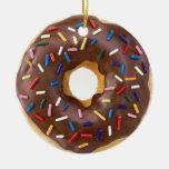Chocolate Sprinkle Doughnut Ornament