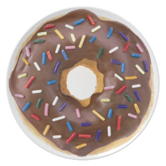 Chocolate Sprinkle Doughnut Party Plates