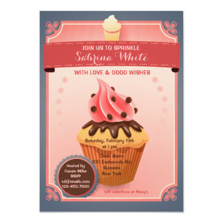 "Chocolate Sprinkles Bridal Shower Invitation 5"" X 7"" Invitation Card"