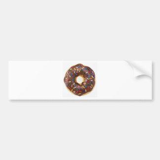 Chocolate Sprinkles Doughnut Car Bumper Sticker