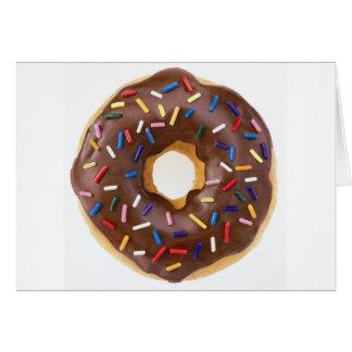 Chocolate Sprinkles Doughnut Greeting Card