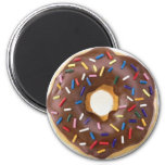 Chocolate Sprinkles Doughnut Magnets