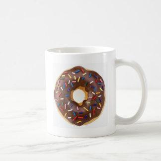 Chocolate Sprinkles Doughnut Classic White Coffee Mug