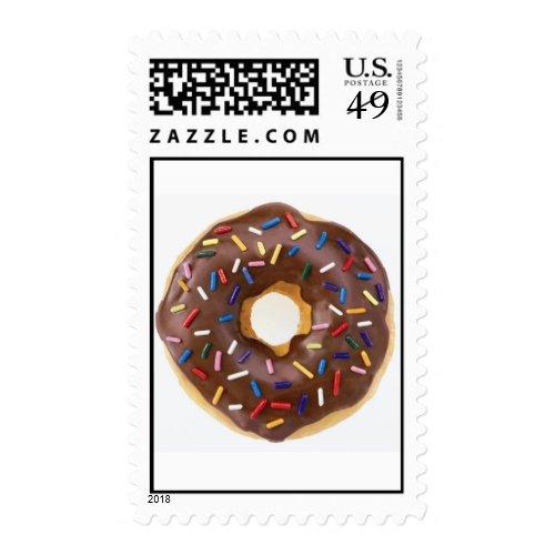 Chocolate Sprinkles Doughnut Postage