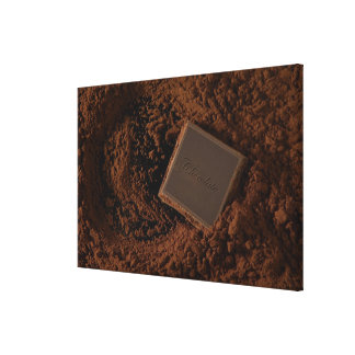 Chocolate Square in Chocolate Powder Canvas Print