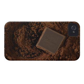 Chocolate Square in Chocolate Powder iPhone 4 Case