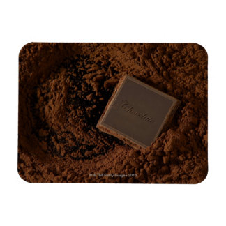 Chocolate Square in Chocolate Powder Magnet