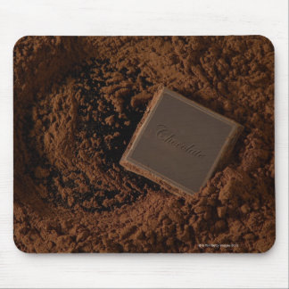Chocolate Square in Chocolate Powder Mouse Pad