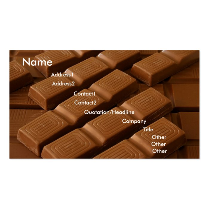 Chocolate Squares Business card