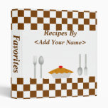 Chocolate Squares Personalized Recipe Binder