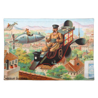 Chocolate Steampunk Flying Machine Placemat