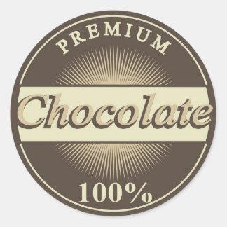 chocolate sticker brown