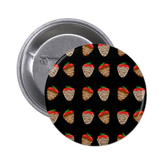 Chocolate strawberries pattern button