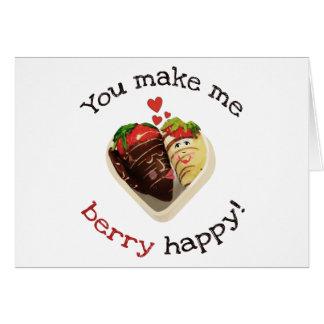Chocolate Strawberries Wedding Proposal Card