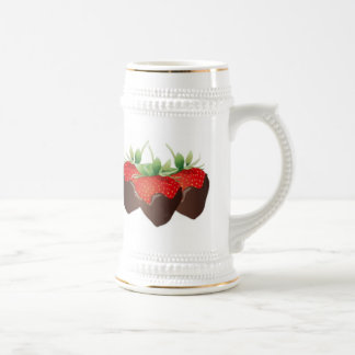 Chocolate Strawberry Beer Stein