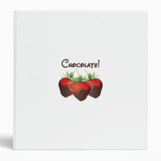 Chocolate Strawberry Vinyl Binder
