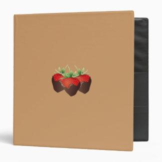 Chocolate Strawberry 3 Ring Binders