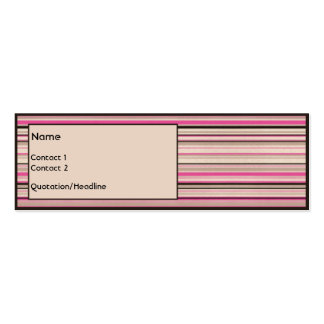 Chocolate Strawberry Double-Sided Mini Business Cards (Pack Of 20)